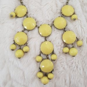 J. Crew Yellow Statement Necklace